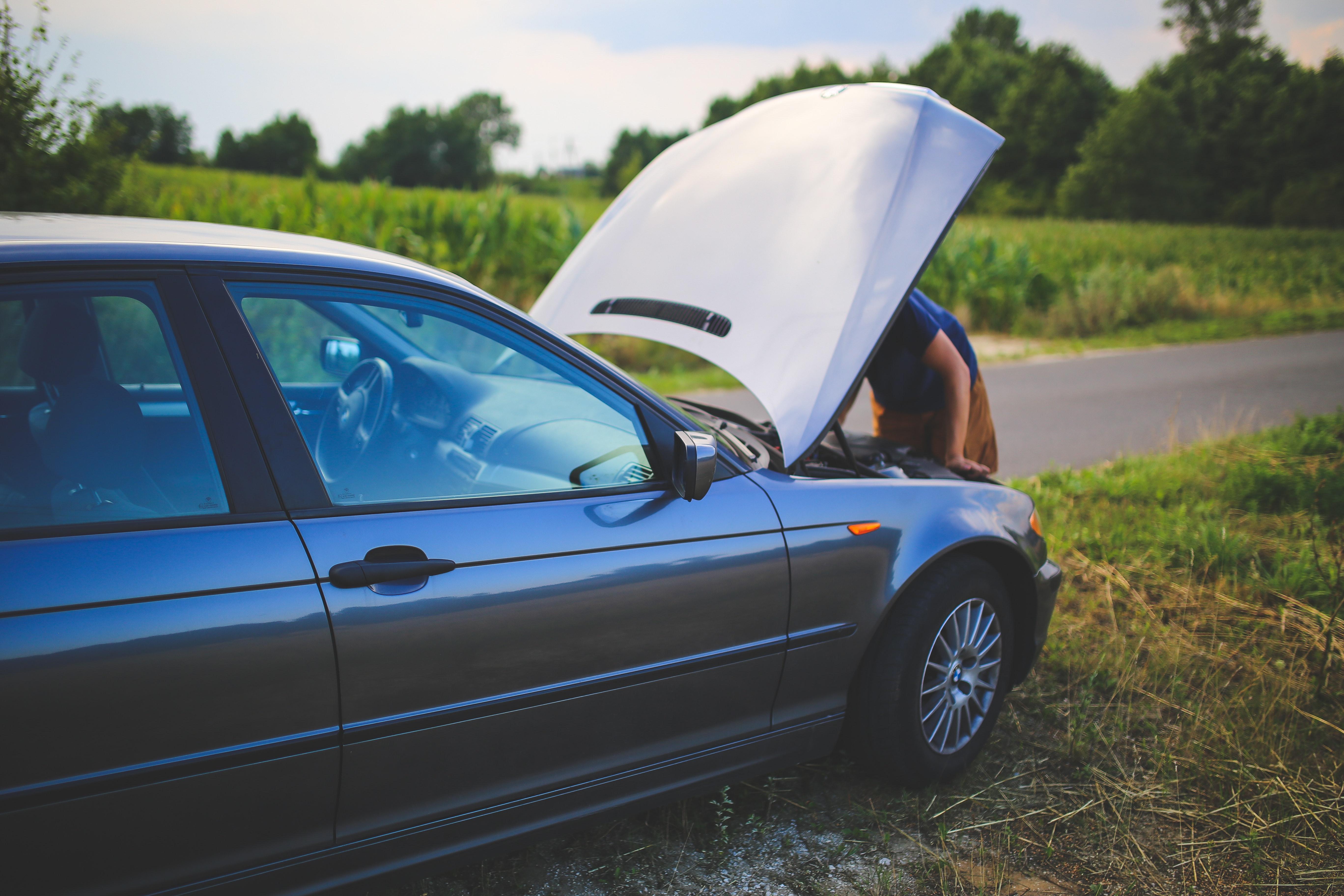 a damaged vehicle